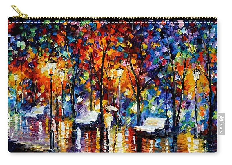 Afremov Carry-all Pouch featuring the painting Night Copenhagen by Leonid Afremov