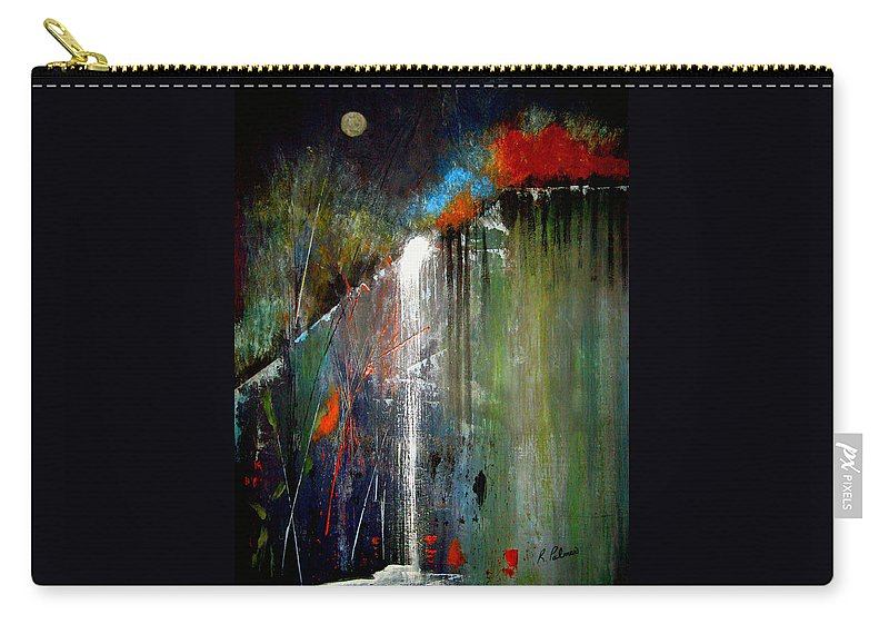 Abstract Carry-all Pouch featuring the painting Night Falls by Ruth Palmer