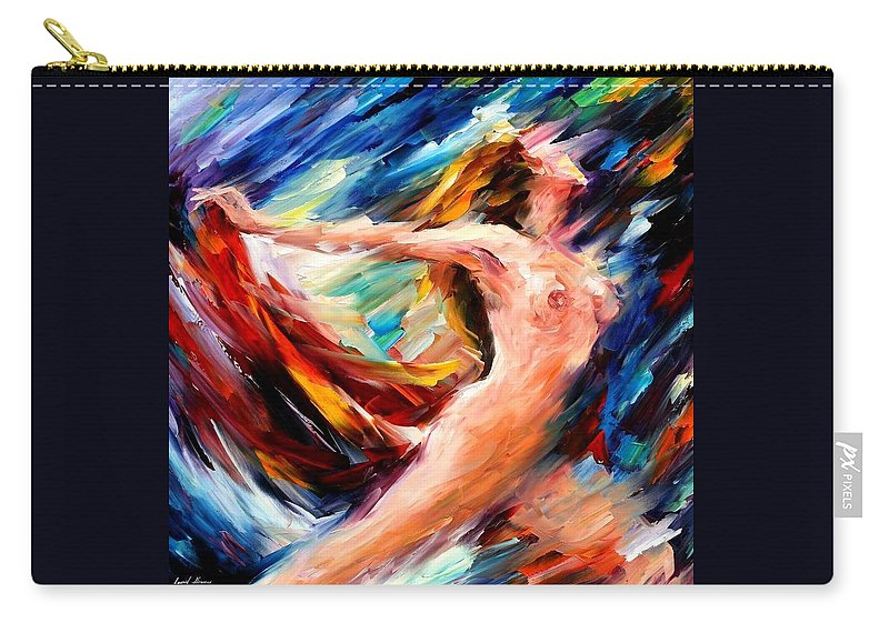 Nude Carry-all Pouch featuring the painting Night Flight by Leonid Afremov