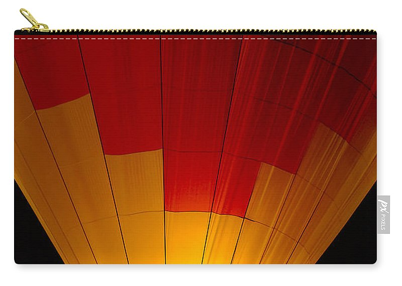 Balloon Carry-all Pouch featuring the photograph Night Flight by Mike Dawson