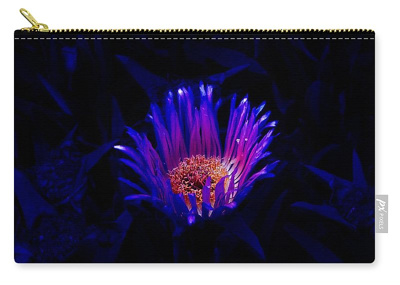 Flower Carry-all Pouch featuring the photograph Night Glow by Charleen Treasures