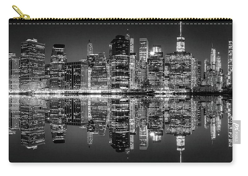 New York City Skyline Carry-all Pouch featuring the photograph Night Grooves by Az Jackson