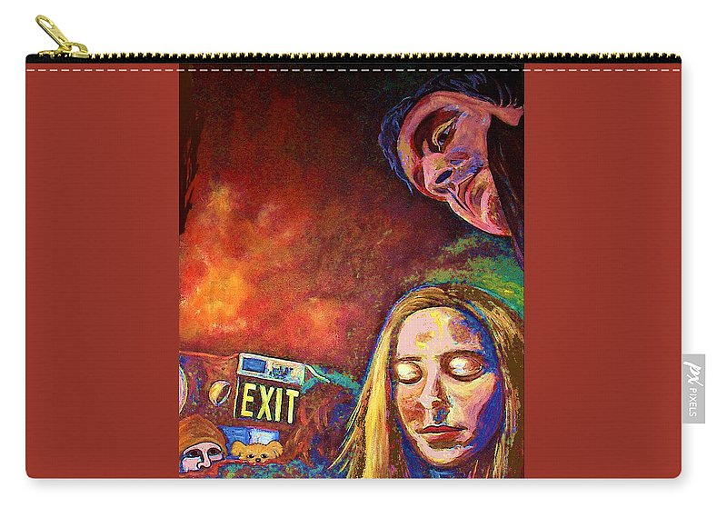 Girl Portrait Carry-all Pouch featuring the painting Night In The City by Frances Gillotti
