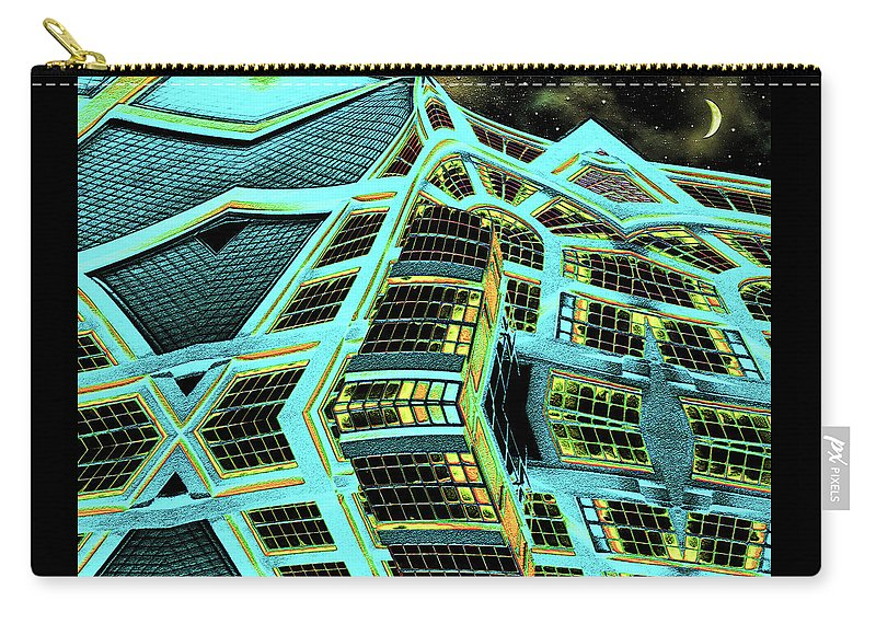 Abstract Carry-all Pouch featuring the digital art Night In This House by Wendy J St Christopher