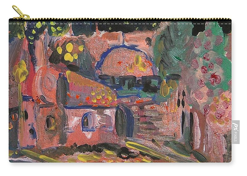 Landscape Carry-all Pouch featuring the painting Night Landscape by Rita Fetisov