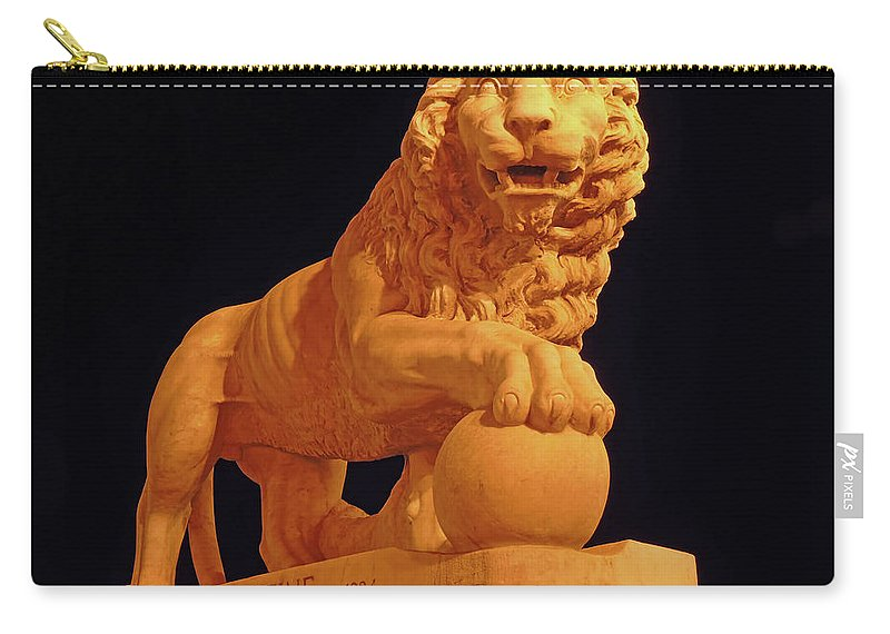 Bridge Of Lions Carry-all Pouch featuring the photograph Night Of The Lion by D Hackett