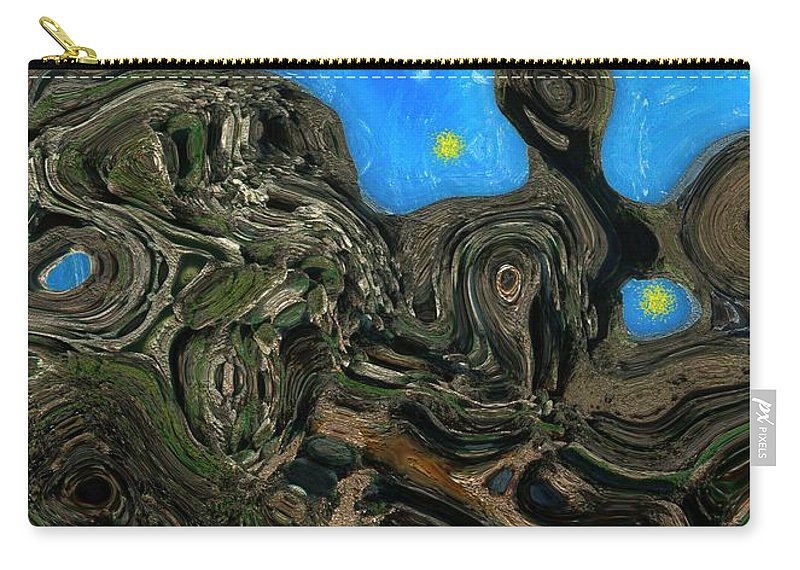 Abstract Carry-all Pouch featuring the painting Night Petrified by RC DeWinter