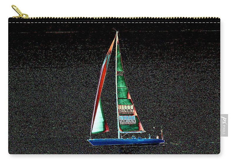 Seattle Carry-all Pouch featuring the photograph Night Sail 2 by Tim Allen