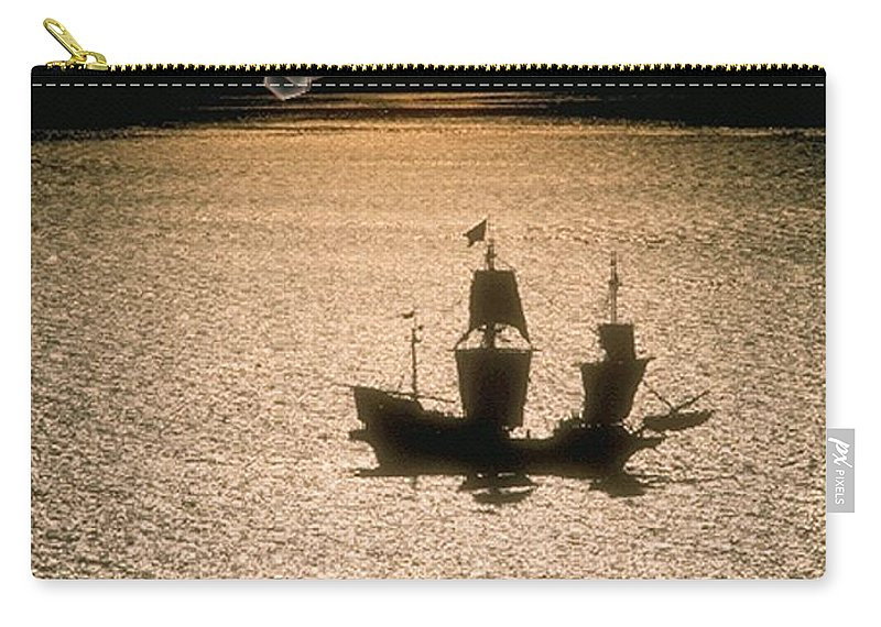 Sail Carry-all Pouch featuring the photograph Night Sail by Tim Allen