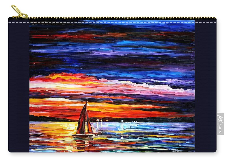 Seascape Carry-all Pouch featuring the painting Night Sea by Leonid Afremov