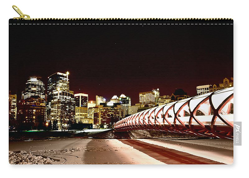 Calgary Carry-all Pouch featuring the photograph Night Shots Calgary Alberta Canada by Mark Duffy