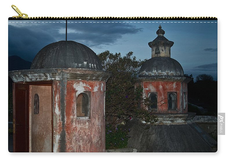 Panza Verde Carry-all Pouch featuring the photograph Night Skyline 1 by Douglas Barnett