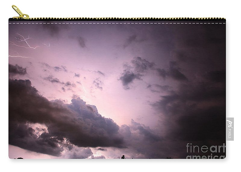 Lightning Carry-all Pouch featuring the photograph Night Storm by Amanda Barcon
