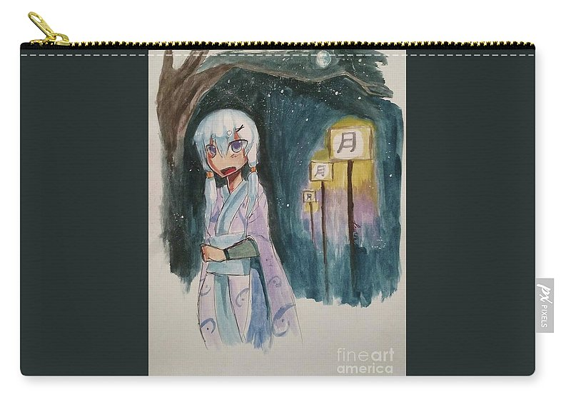 Lanterns Carry-all Pouch featuring the mixed media Night Stutter by Lauren Champion