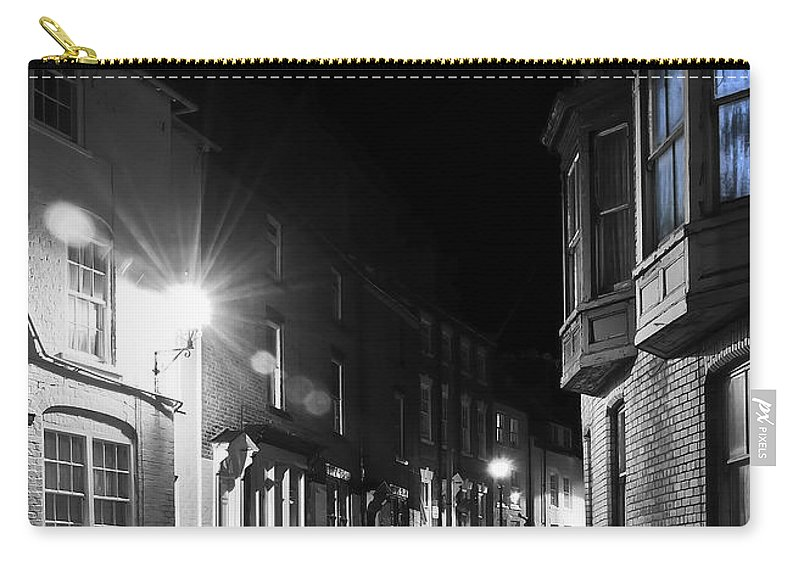 Aqua Carry-all Pouch featuring the photograph Night Time by Svetlana Sewell