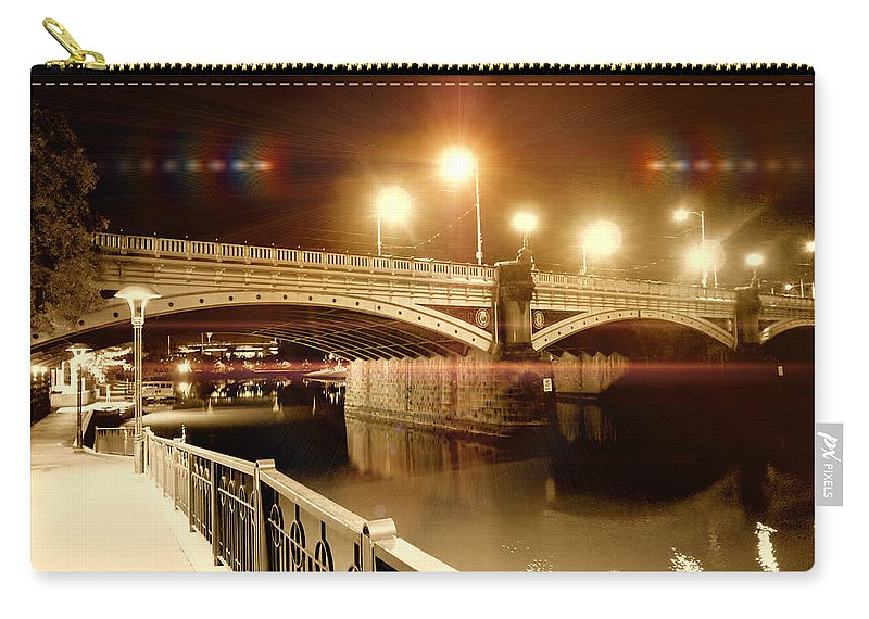 Bridge Carry-all Pouch featuring the photograph Night Walk by Douglas Barnard