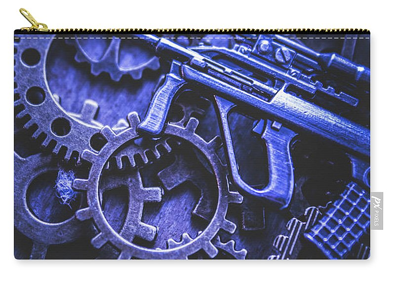 Terrorism Carry-all Pouch featuring the photograph Night Watch Gears by Jorgo Photography - Wall Art Gallery