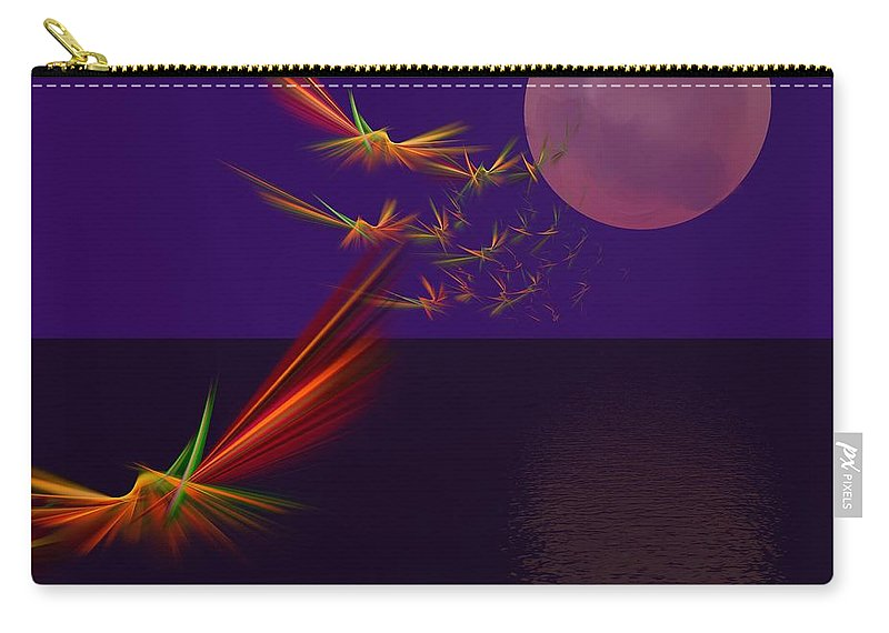 Abstract Digital Photo Carry-all Pouch featuring the digital art Night Wings by David Lane