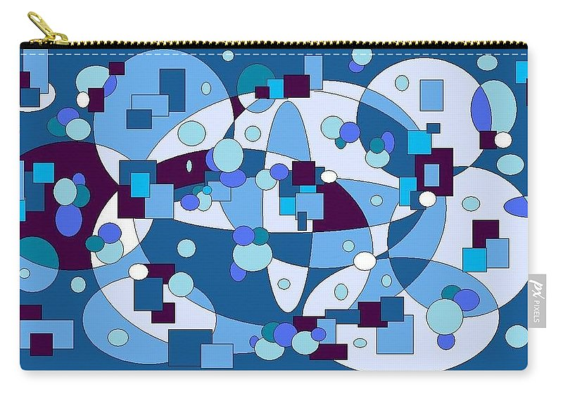 Digital Artwork Carry-all Pouch featuring the digital art Nightall by Jordana Sands