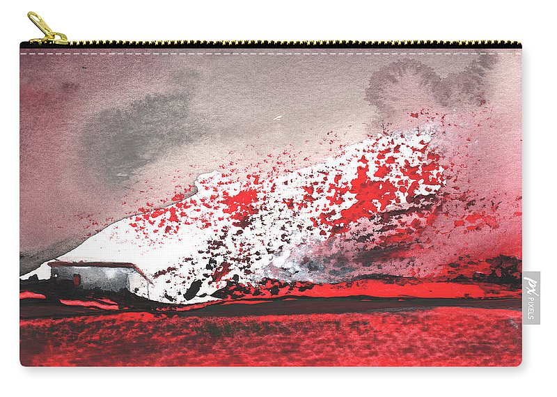 Gouache Carry-all Pouch featuring the painting Nightfall 09 by Miki De Goodaboom