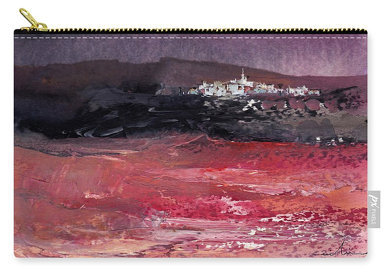 Watercolour Landscape Carry-all Pouch featuring the painting Nightfall 16 by Miki De Goodaboom