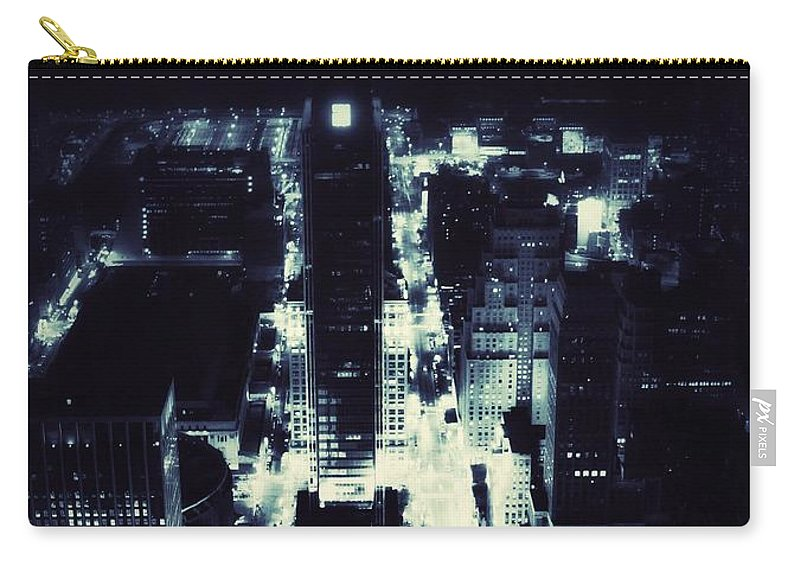 New York City Skyline Carry-all Pouch featuring the photograph Blue Pill by Helge