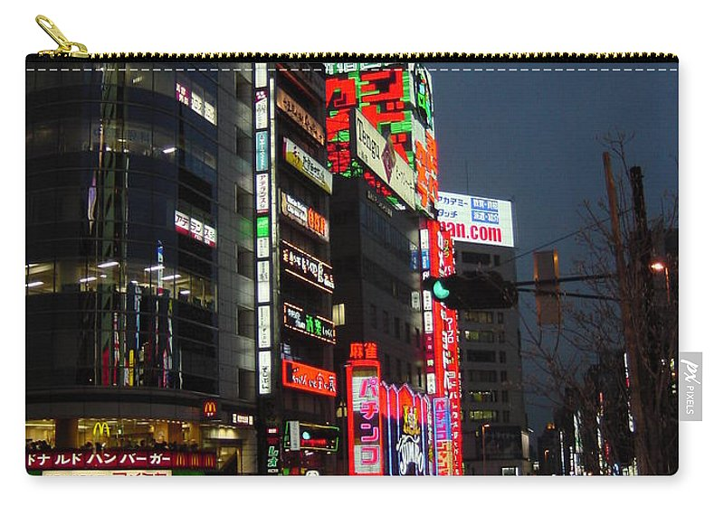 Cityscape Carry-all Pouch featuring the photograph Nightlife's Dawn by D Turner