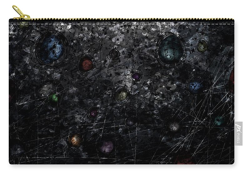 Abstract Carry-all Pouch featuring the digital art Nightmare Catcher by Rachel Christine Nowicki