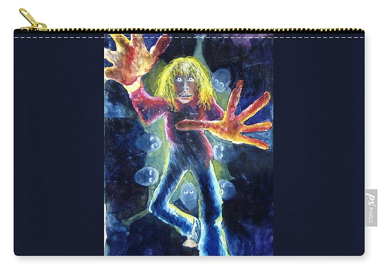Nightmare Carry-all Pouch featuring the painting Nightmare by Nancy Mueller