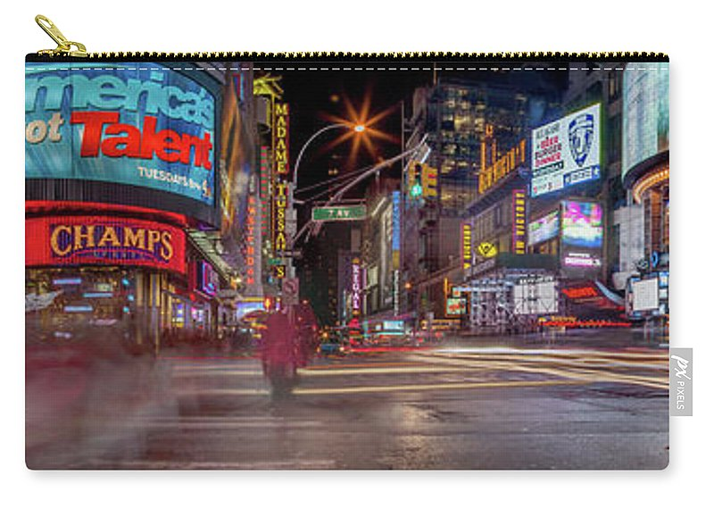 Broadway Carry-all Pouch featuring the photograph Nights On Broadway by Az Jackson