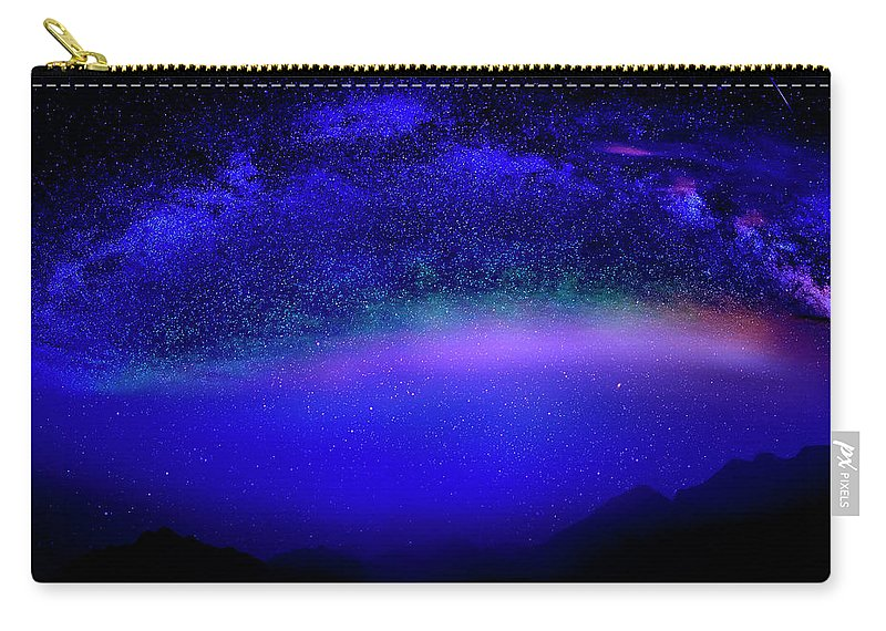 Night Carry-all Pouch featuring the photograph Nightsky Africa 6 by Johanna Hurmerinta