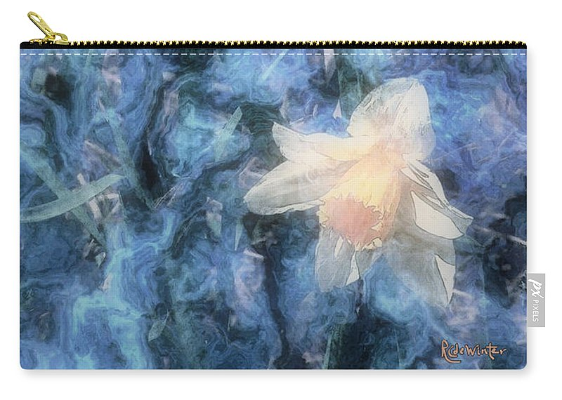 Daffodils Carry-all Pouch featuring the painting Nighttime Narcissus by RC DeWinter