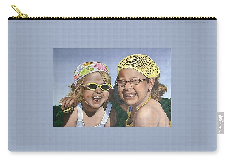 Portrait Carry-all Pouch featuring the painting Nina And Francis by Rob De Vries