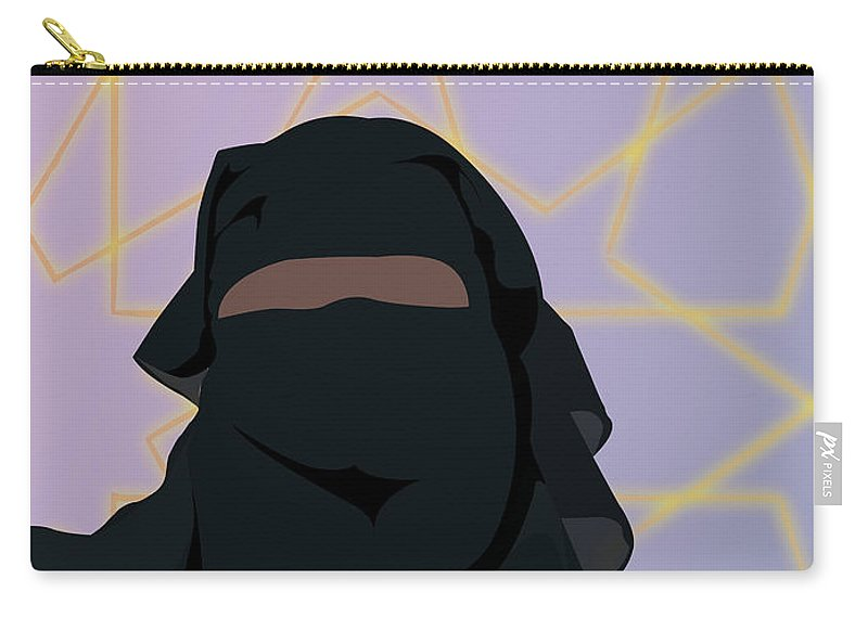 Muslim Carry-all Pouch featuring the digital art Niqabi Left by Scheme Of Things
