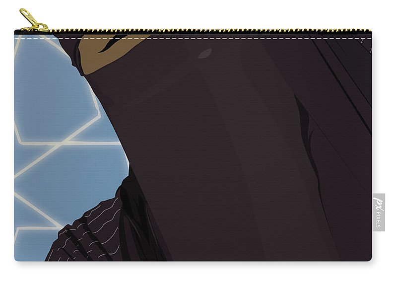 Muslim Carry-all Pouch featuring the digital art Niqabi Right by Scheme Of Things