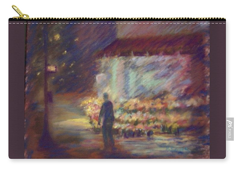 Laandscape Carry-all Pouch featuring the pastel Nite Flower Market by Pat Snook