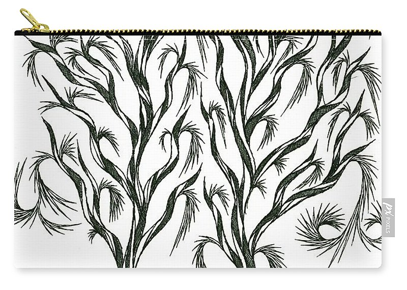 Nature Carry-all Pouch featuring the drawing No 10 by Robert Nickologianis