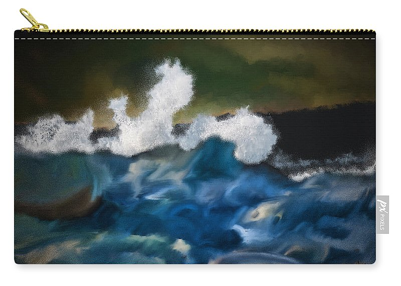Ocean Carry-all Pouch featuring the digital art No Calm Before The Storm by Patti Parish