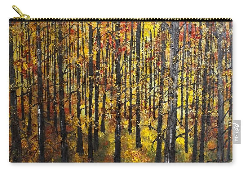 Landscape Carry-all Pouch featuring the painting No Doubt In My Mind by Lisa Aerts