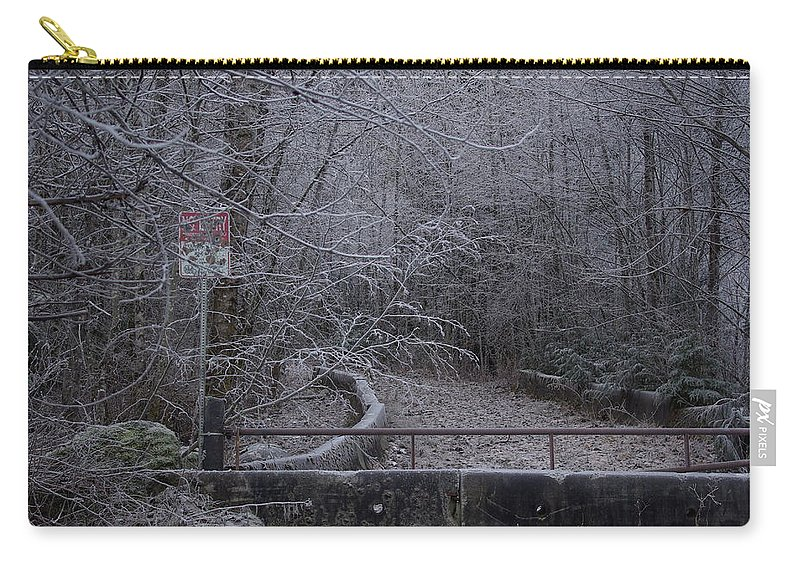 No Carry-all Pouch featuring the photograph No Entry by Cindy Johnston