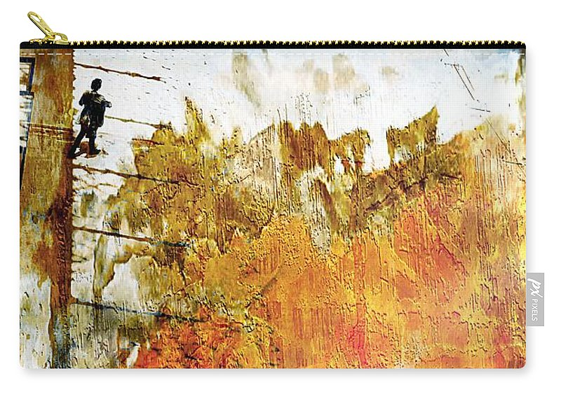 Streat Carry-all Pouch featuring the photograph No Escape by Jean Francois Gil