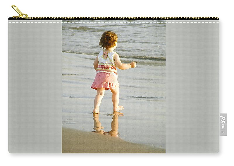 Beach Carry-all Pouch featuring the photograph No Fear by Margie Wildblood