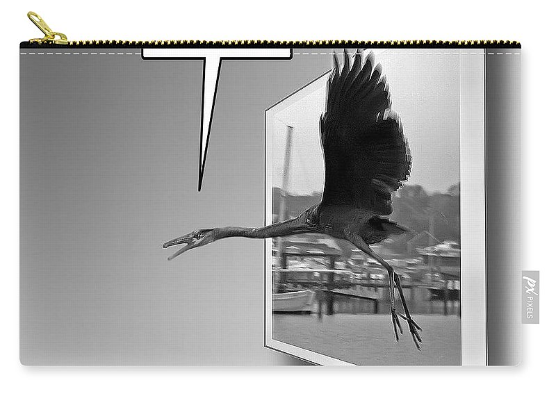 2d Carry-all Pouch featuring the photograph No Fly Zone by Brian Wallace