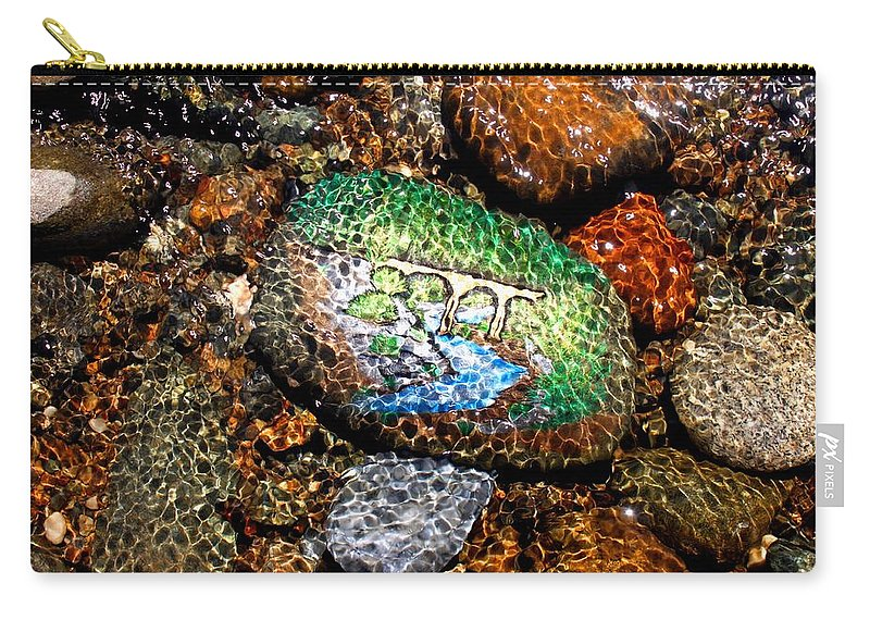 Carry-all Pouch featuring the photograph No Hands Bridge by Kathy Partak