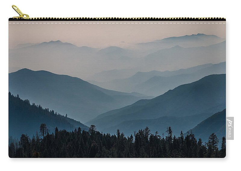 Generals Highway Carry-all Pouch featuring the photograph Misty Blue Shades Of Generals Highway 2 by Patti Deters