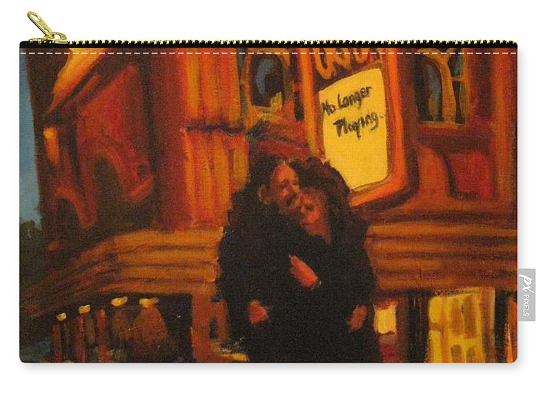 Wet Streets Carry-all Pouch featuring the painting No Longer Playing by John Malone
