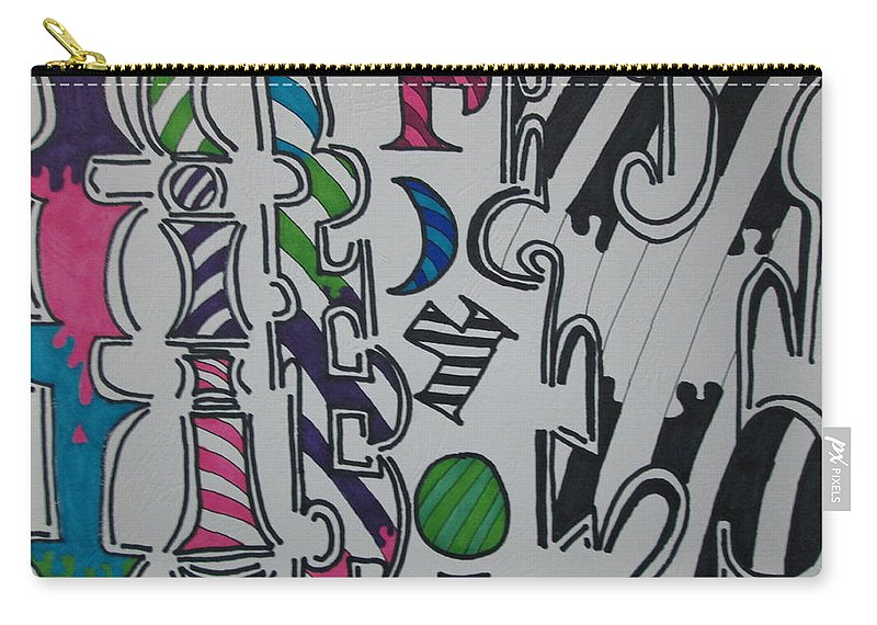 Ink Carry-all Pouch featuring the drawing No More Ink by Rodrigo Maldonado