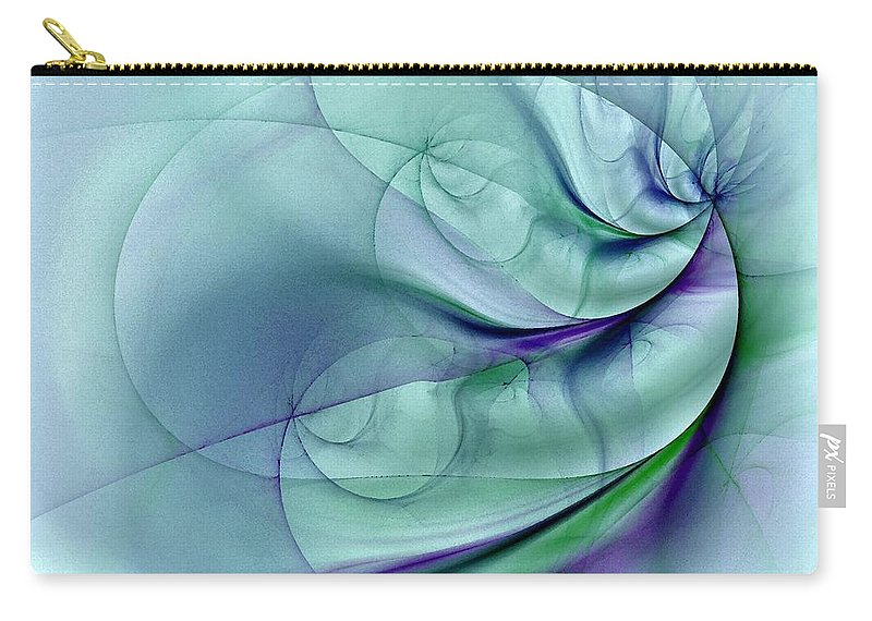 Contemporary Carry-all Pouch featuring the digital art No More To Roam by NirvanaBlues