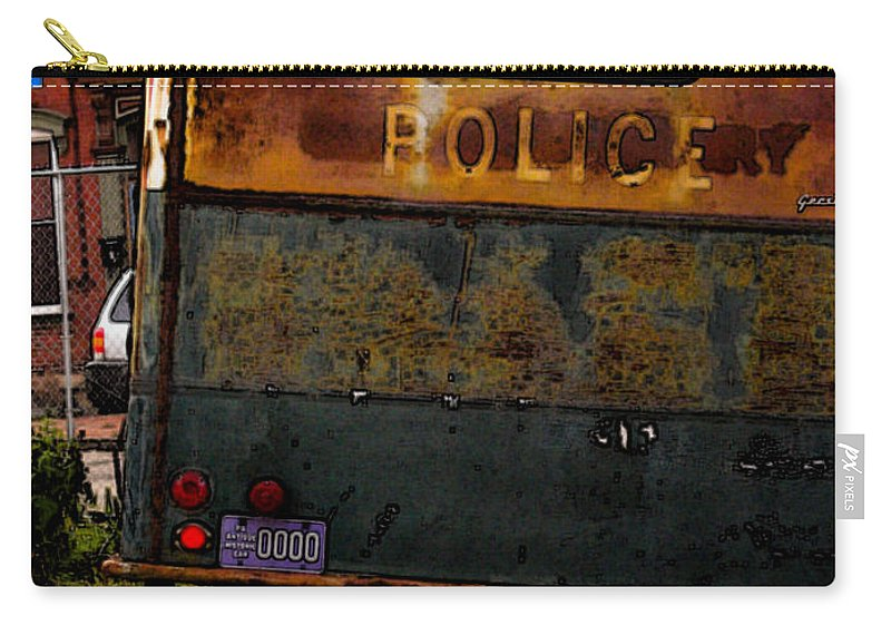 Paddy Wagon Carry-all Pouch featuring the photograph No Need For The Black Maria by Jay Ressler