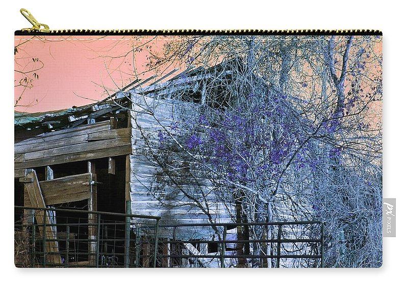 Barn Carry-all Pouch featuring the photograph No Ordinary Barn by Betty Northcutt